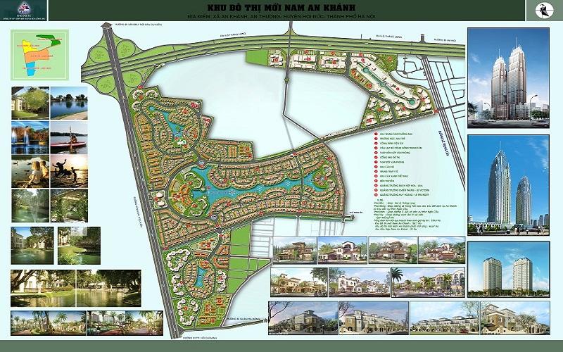 Bản đồ khu đô thị Nam An Khánh sudico